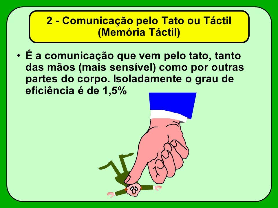2 - Comunicação pelo Tato ou Táctil (Memória Táctil)
