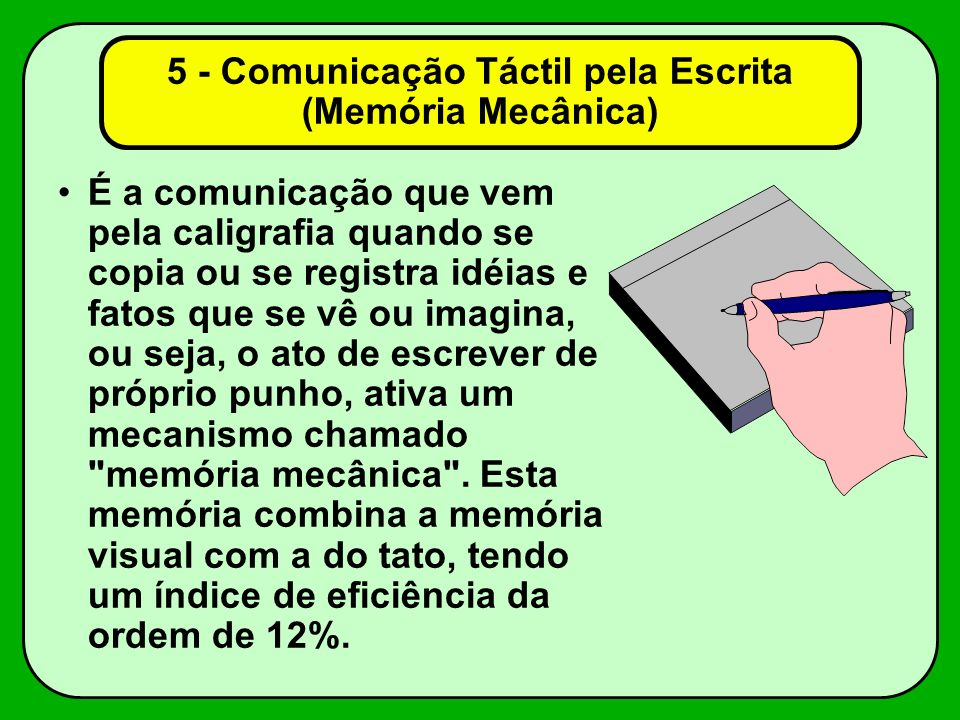 5 - Comunicação Táctil pela Escrita (Memória Mecânica)