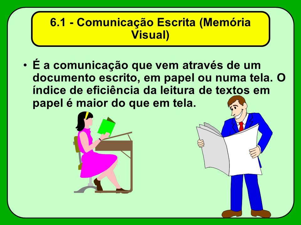 6.1 - Comunicação Escrita (Memória Visual)