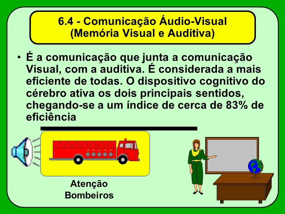 6.4 - Comunicação Áudio-Visual (Memória Visual e Auditiva)