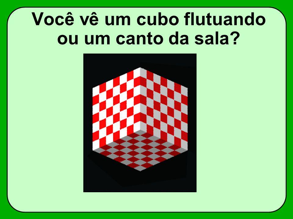 Você vê um cubo flutuando ou um canto da sala