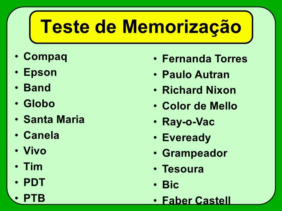 Teste de Memorização Compaq Fernanda Torres Epson Paulo Autran Band