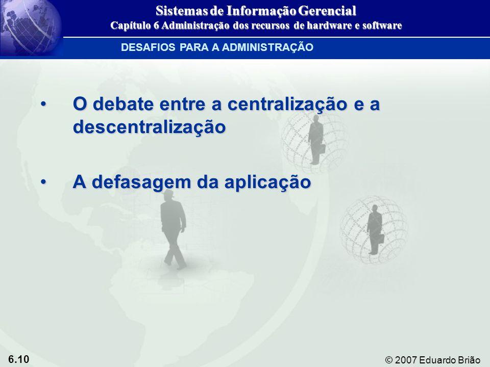 O debate entre a centralização e a descentralização