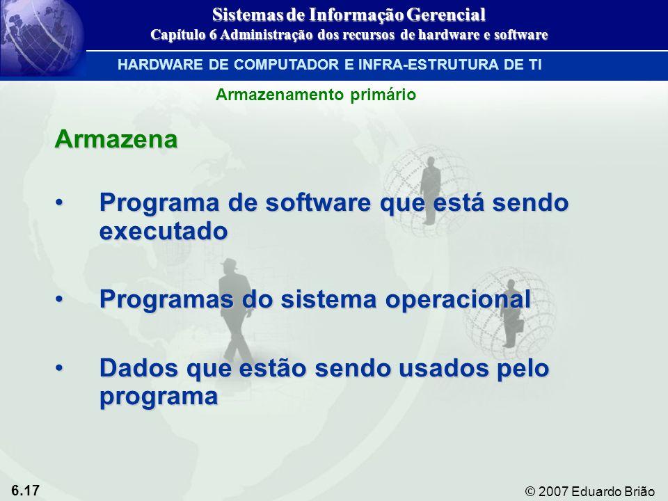 Programa de software que está sendo executado