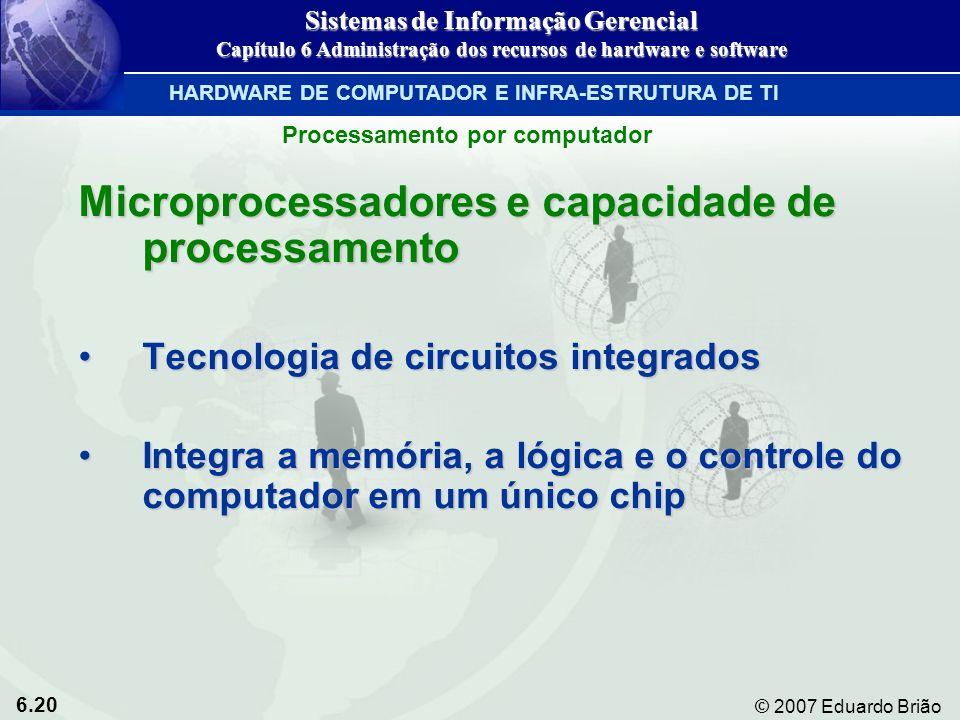 Microprocessadores e capacidade de processamento