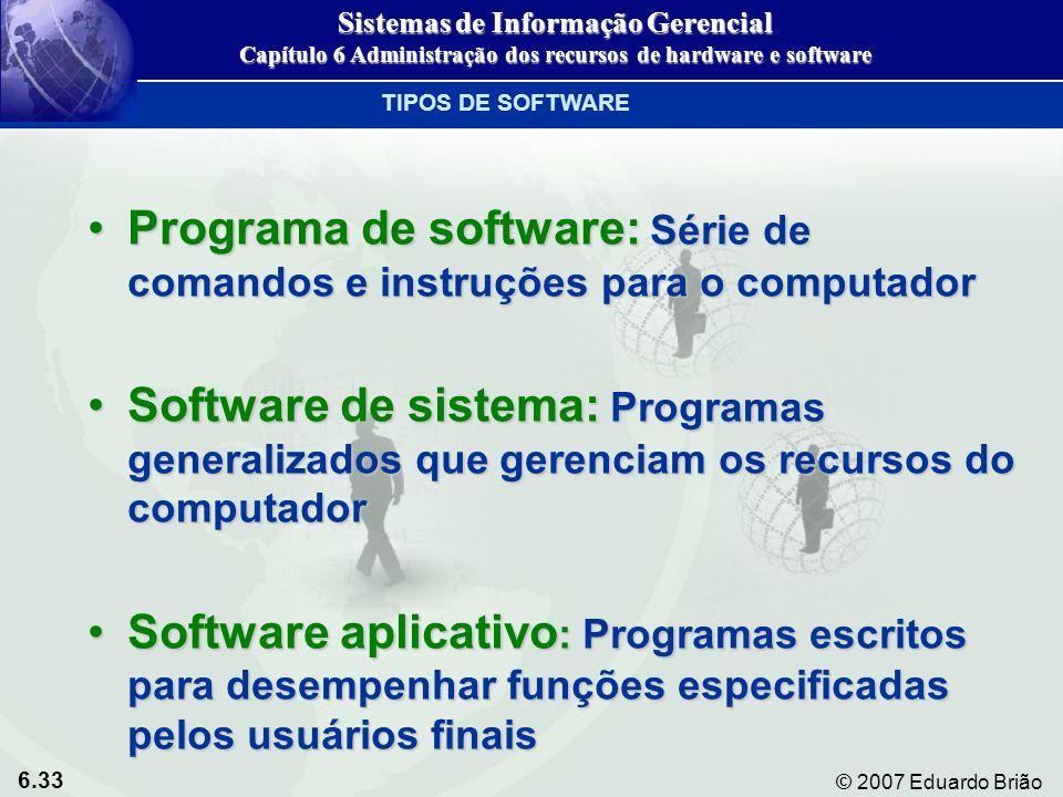 Programa de software: Série de comandos e instruções para o computador