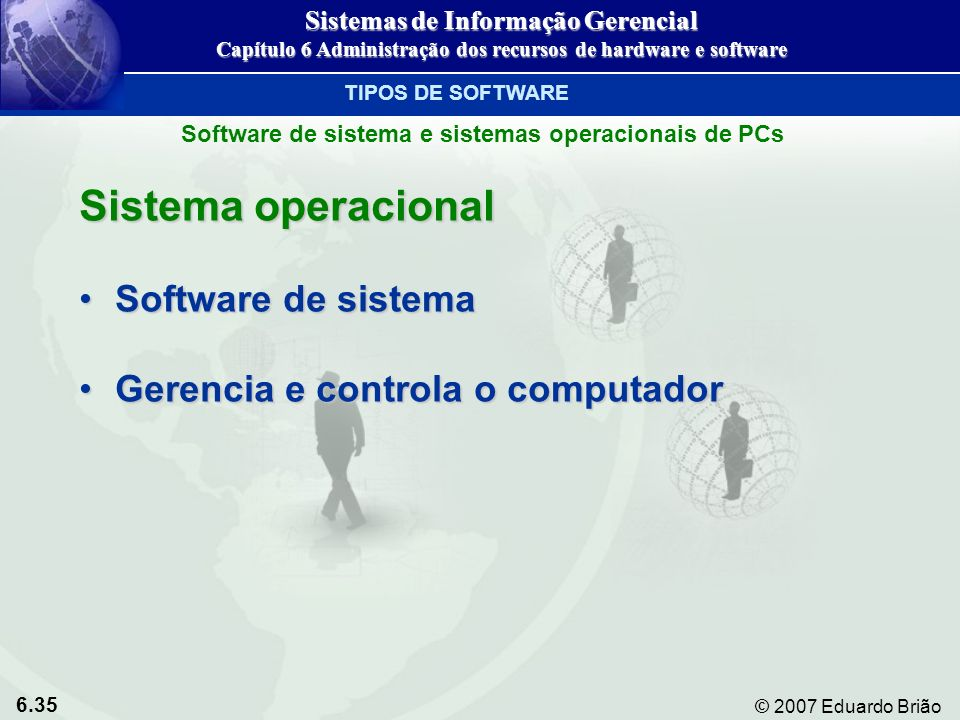 Sistema operacional Software de sistema