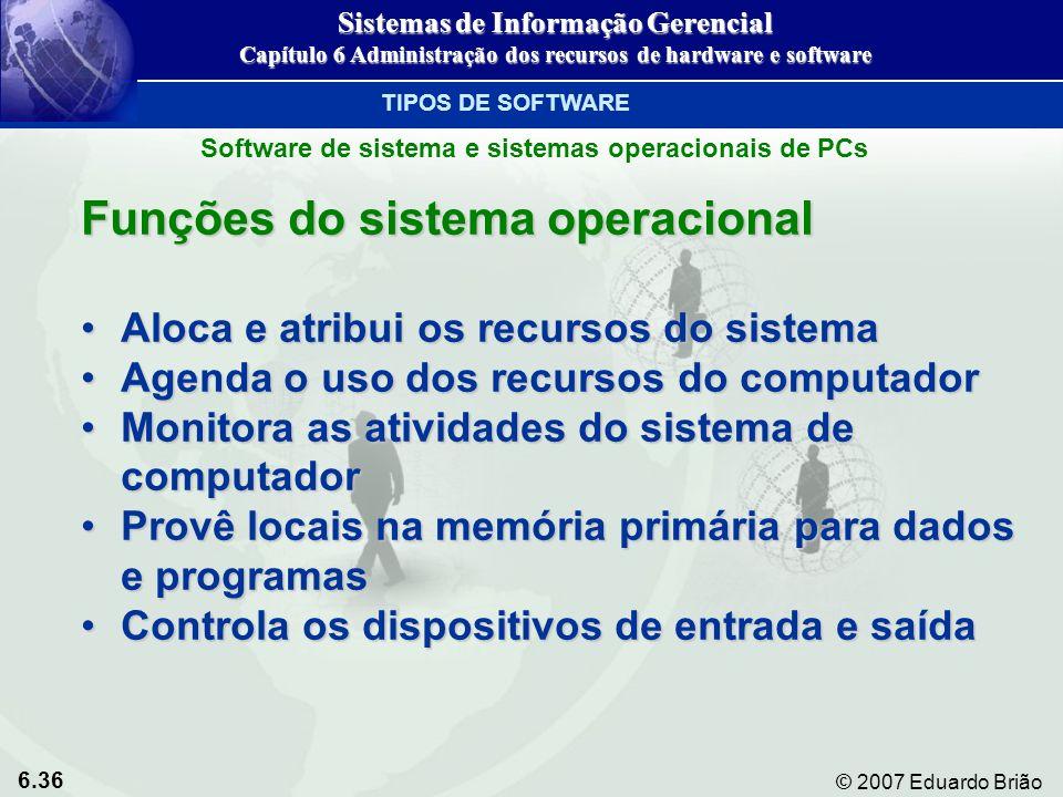 Funções do sistema operacional