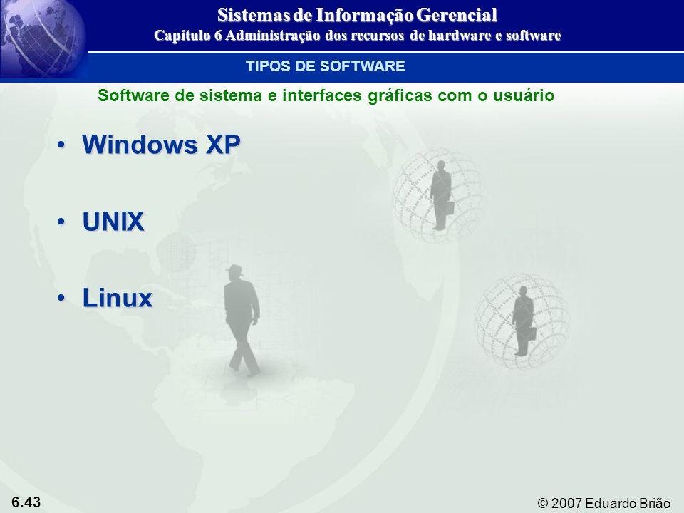 Windows XP UNIX Linux Sistemas de Informação Gerencial