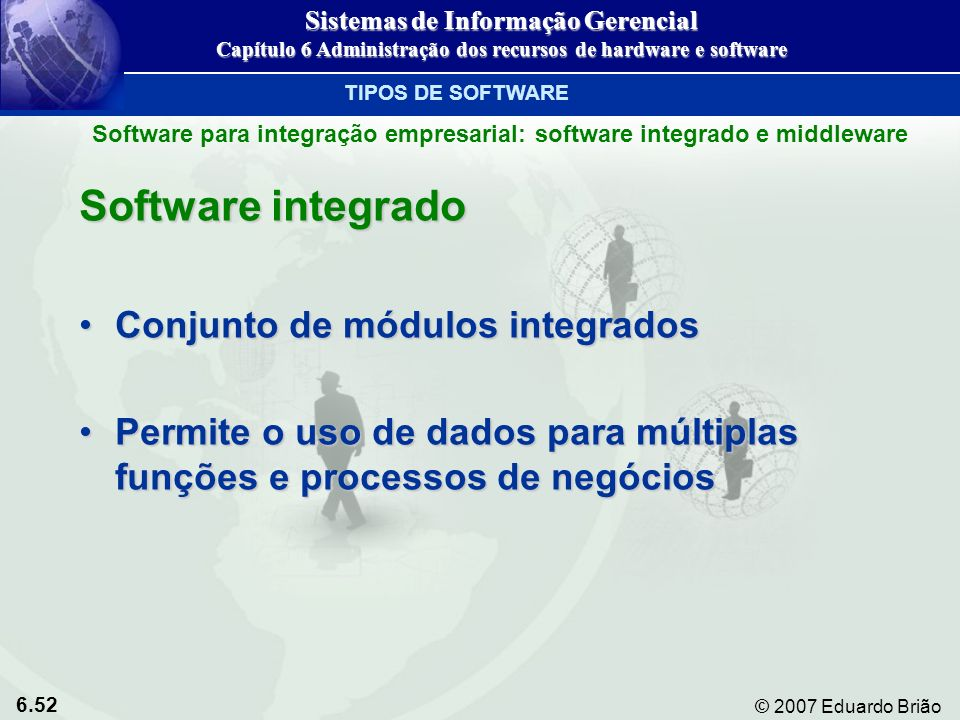 Software integrado Conjunto de módulos integrados