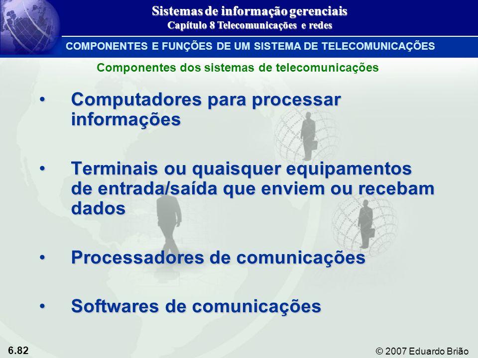 Computadores para processar informações