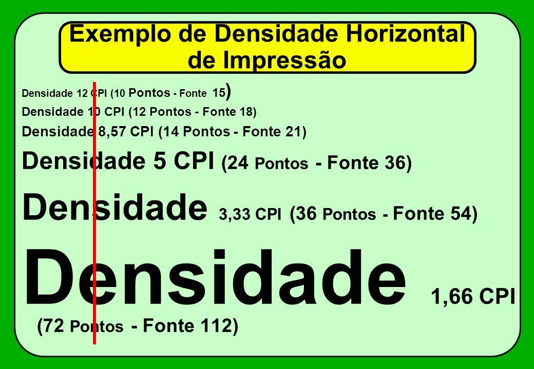 Exemplo de Densidade Horizontal de Impressão