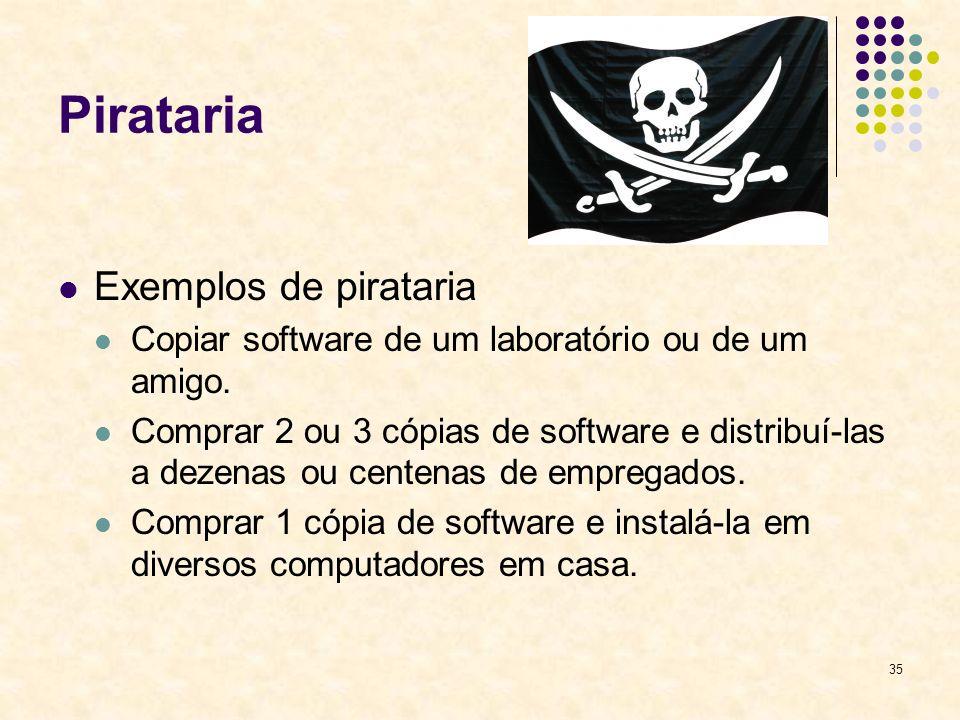 Pirataria Exemplos de pirataria