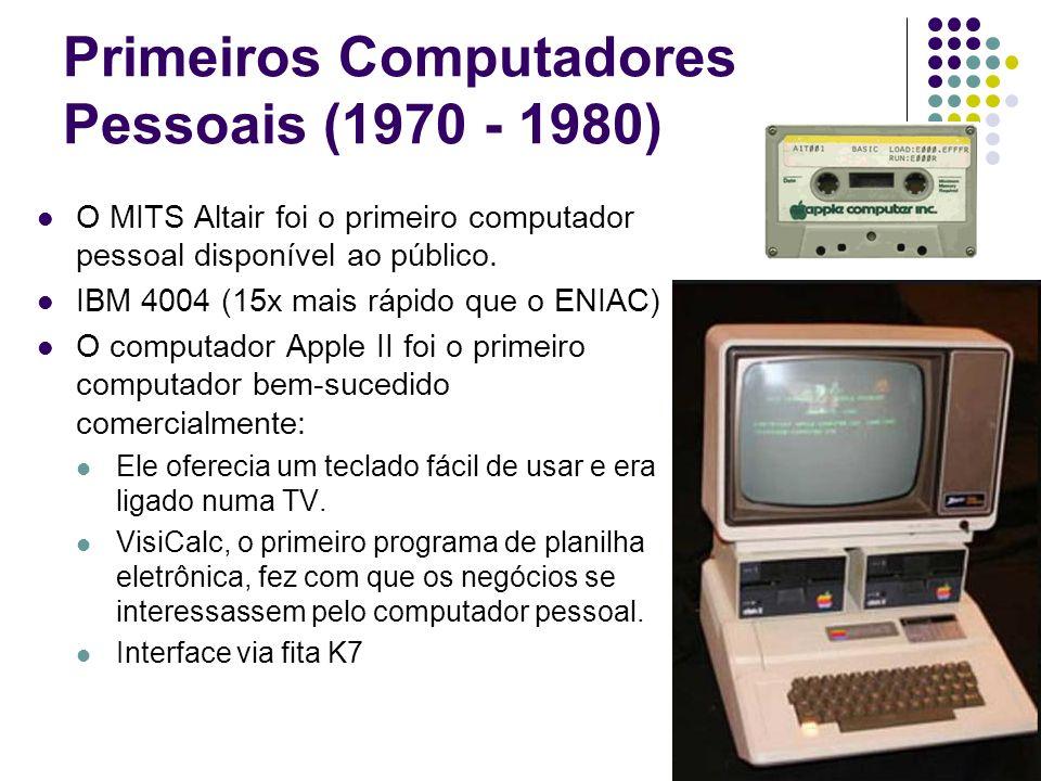 Primeiros Computadores Pessoais (1970 - 1980)