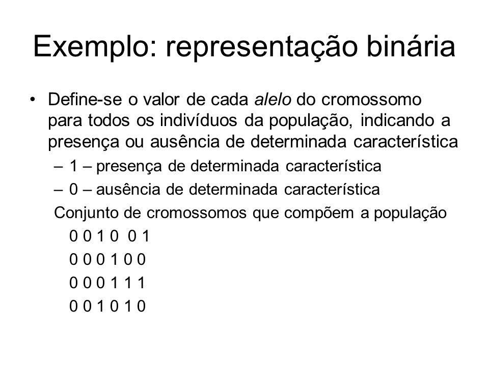 Exemplo: representação binária