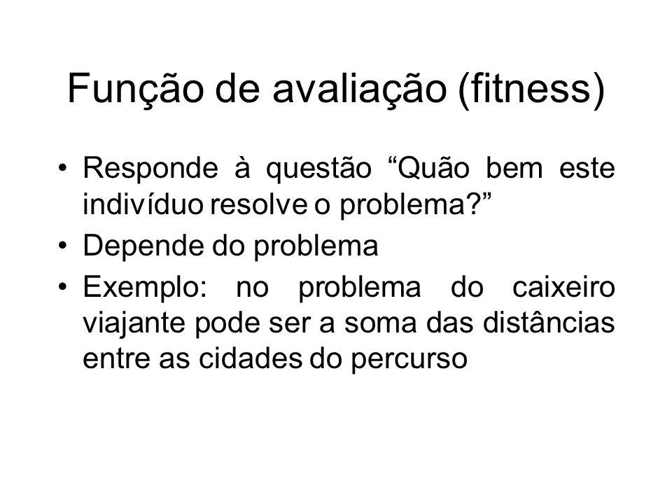 Função de avaliação (fitness)