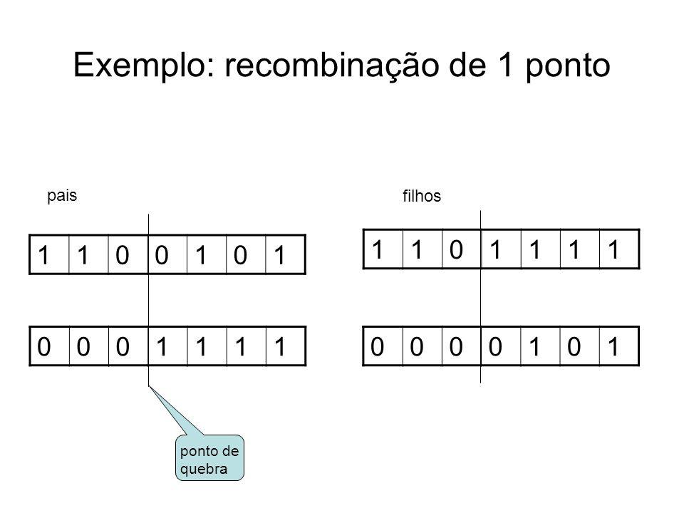 Exemplo: recombinação de 1 ponto