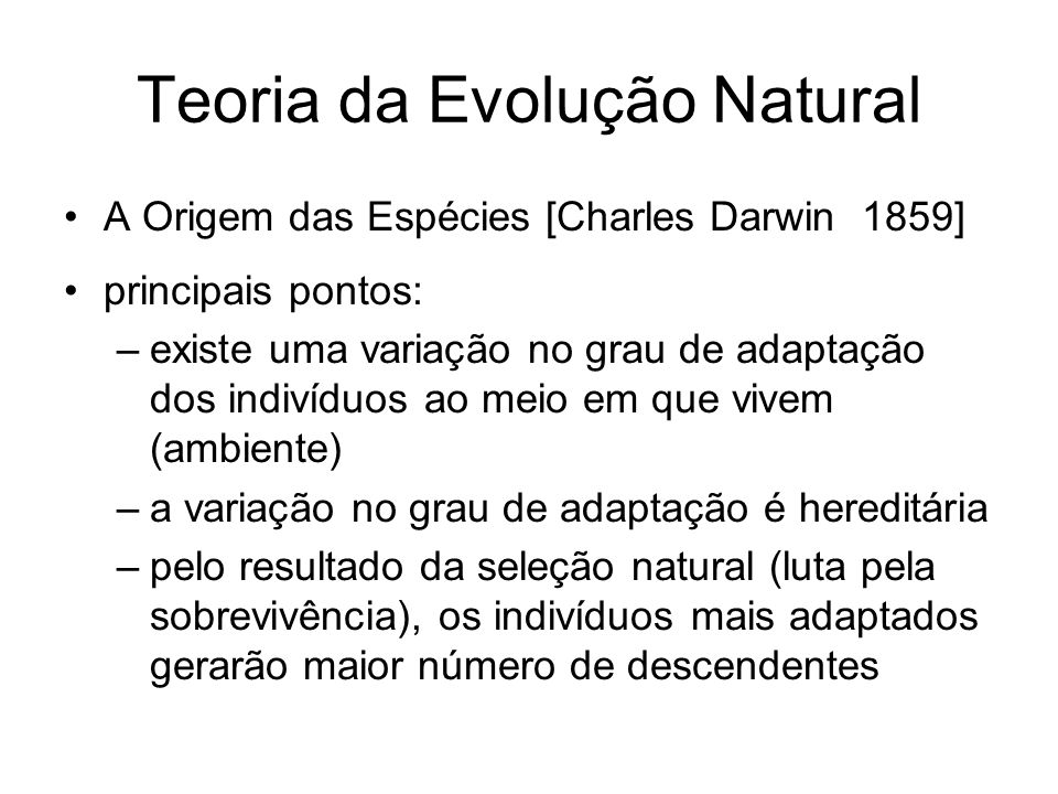 Teoria da Evolução Natural