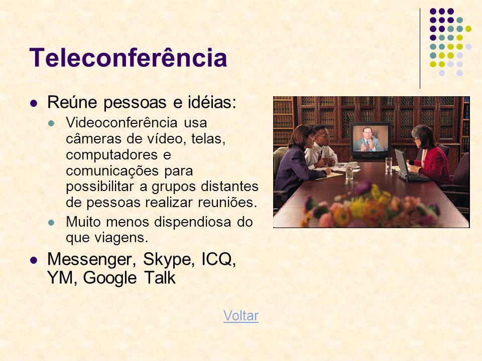 Teleconferência Reúne pessoas e idéias: