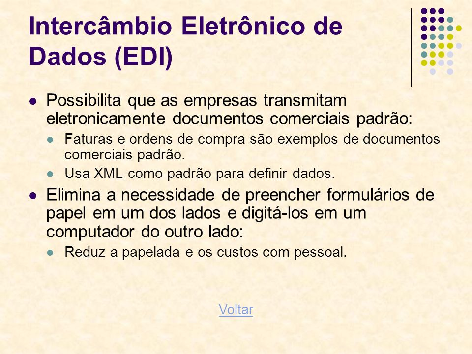 Intercâmbio Eletrônico de Dados (EDI)