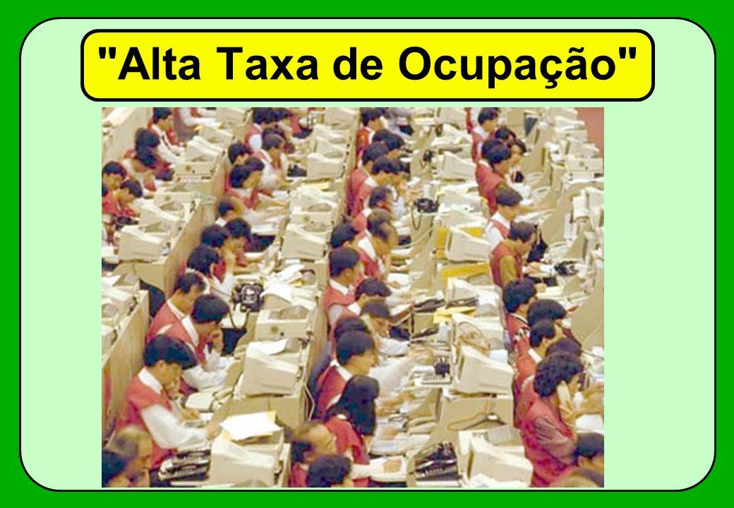 Alta Taxa de Ocupação