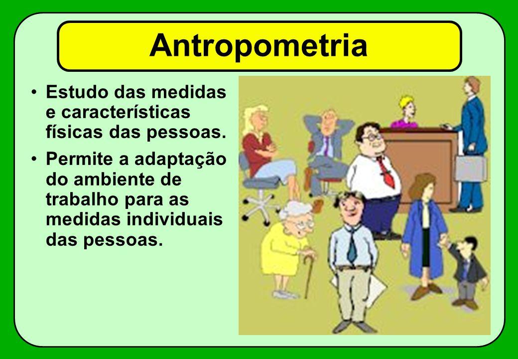 Antropometria Estudo das medidas e características físicas das pessoas.