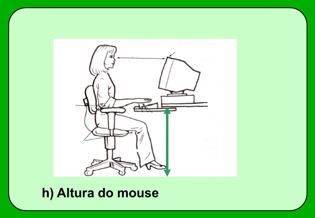 h) Altura do mouse