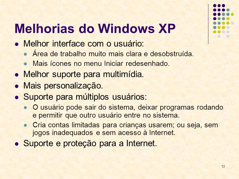 Melhorias do Windows XP