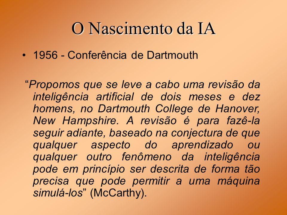 O Nascimento da IA 1956 - Conferência de Dartmouth