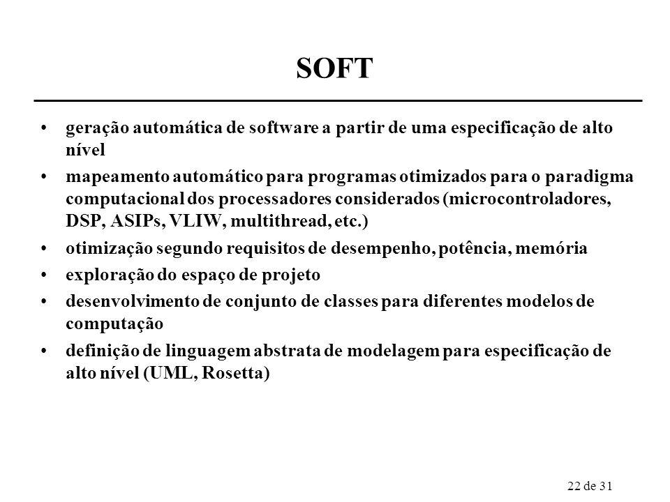 SOFT geração automática de software a partir de uma especificação de alto nível.