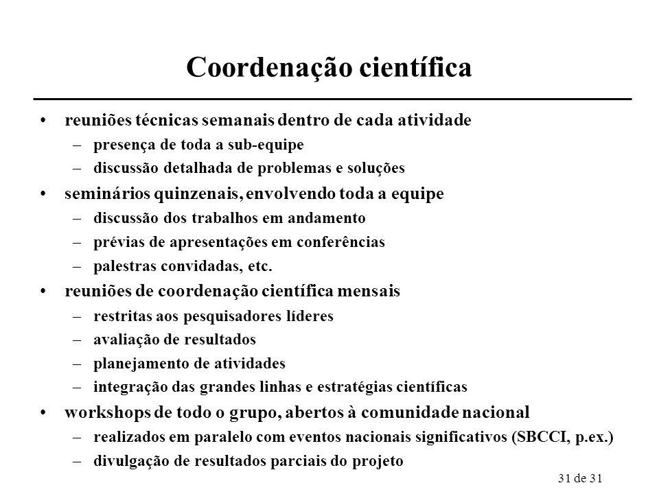 Coordenação científica
