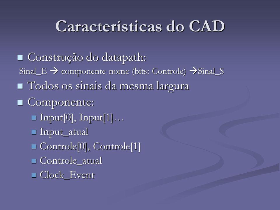 Características do CAD