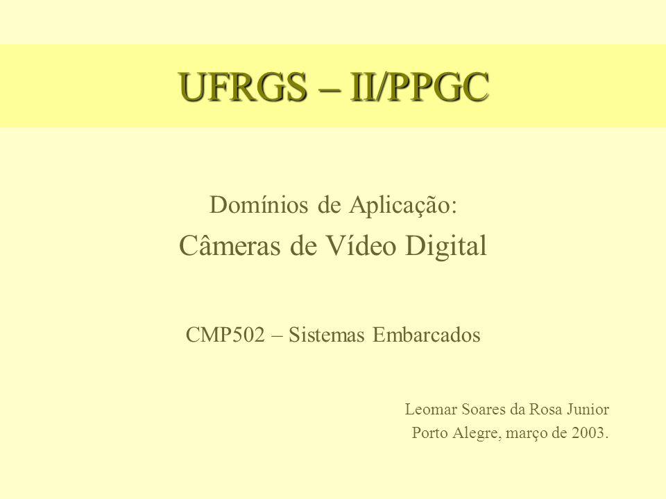 UFRGS – II/PPGC Câmeras de Vídeo Digital Domínios de Aplicação: