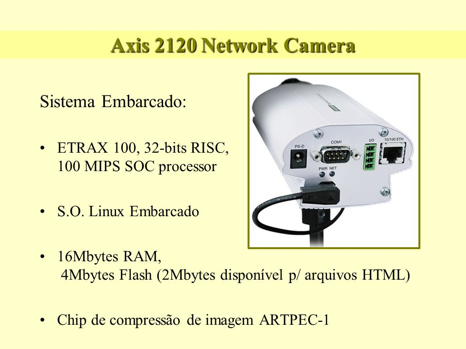 Axis 2120 Network Camera Sistema Embarcado:
