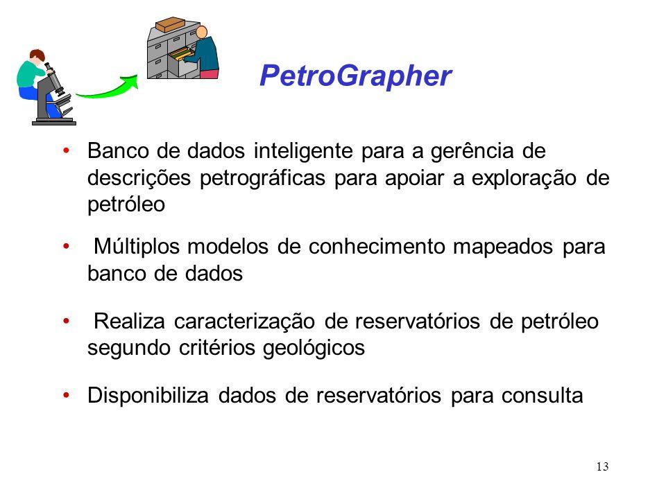PetroGrapher Banco de dados inteligente para a gerência de descrições petrográficas para apoiar a exploração de petróleo.