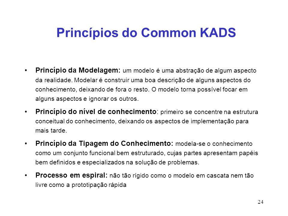 Princípios do Common KADS
