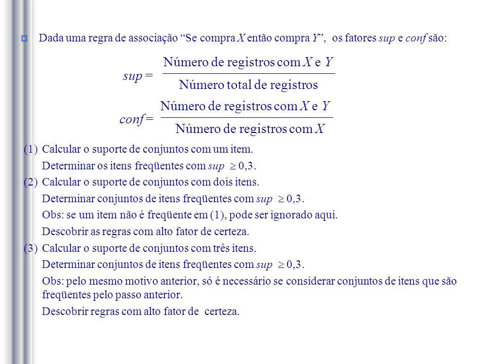 Número de registros com X e Y