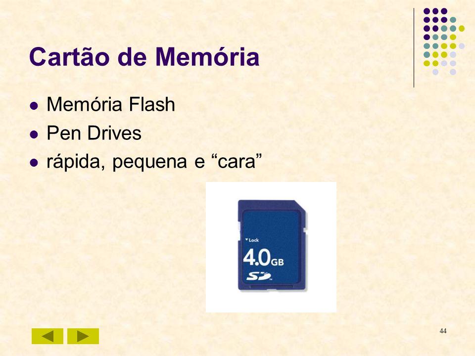 Cartão de Memória Memória Flash Pen Drives rápida, pequena e cara