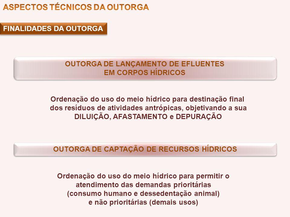 ASPECTOS TÉCNICOS DA OUTORGA