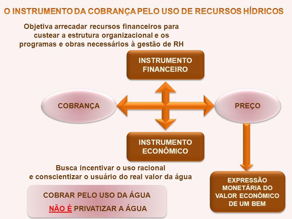 O INSTRUMENTO DA COBRANÇA PELO USO DE RECURSOS HÍDRICOS