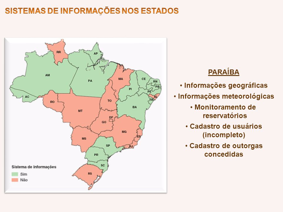 Informações geográficas Informações meteorológicas