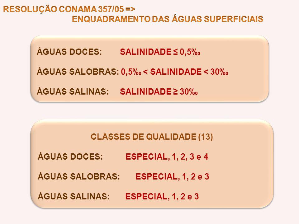 CLASSES DE QUALIDADE (13)