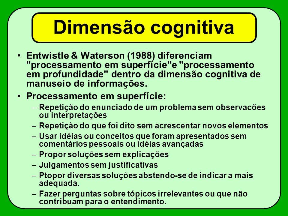Dimensão cognitiva