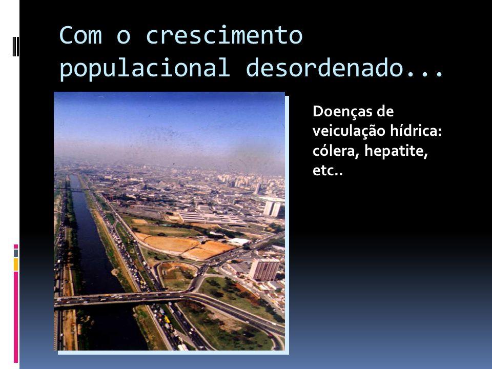 Com o crescimento populacional desordenado... ...