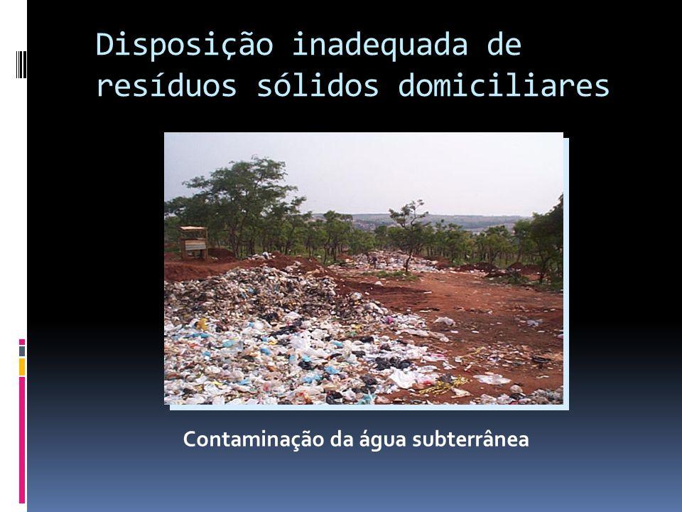 Disposição inadequada de resíduos sólidos domiciliares