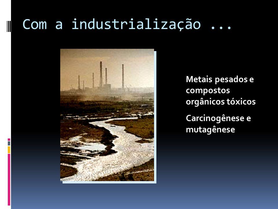 Com a industrialização ...