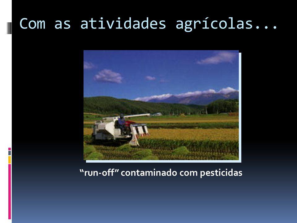 Com as atividades agrícolas...