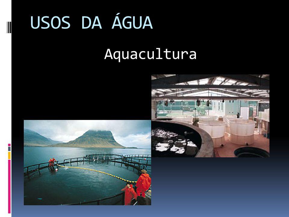 USOS DA ÁGUA Aquacultura