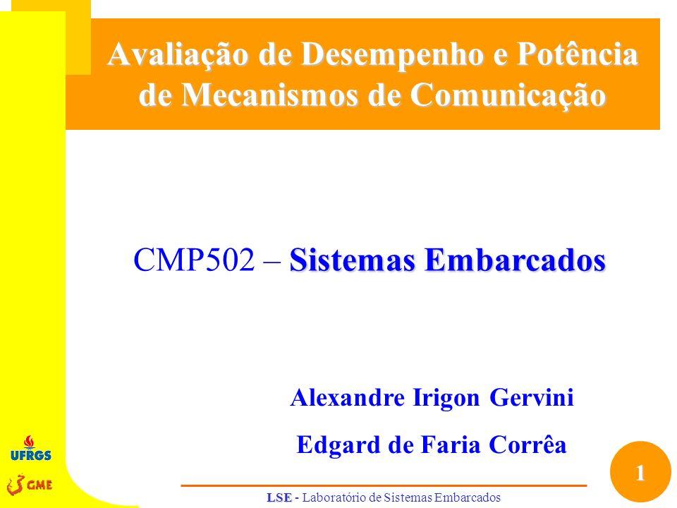 Avaliação de Desempenho e Potência de Mecanismos de Comunicação