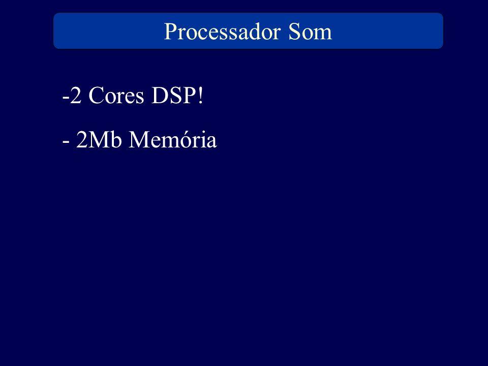 Processador Som 2 Cores DSP! 2Mb Memória